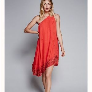 Free People Red One Shoulder Dress - Size 0
